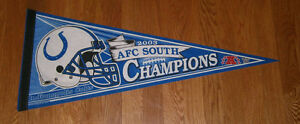 2003 Indianapolis Colts AFC South Division Champs pennant Peyton Manning
