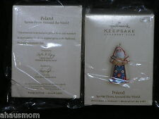 HALLMARK 2007 CLUB MINIATURE ORNAMENT POLAND SANTA BRAND NEW IN BOX