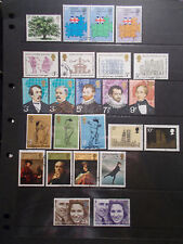 GB 1973 Commemorative Stamps, Year Set~Very Fine Used, ex fdc~UK Seller