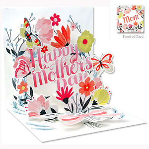 3D Pop Up Greeting Card from Up With Paper - SPRINGTIME BOUQUET - UP-WP-MD-1090