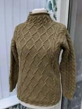 VTG 90s Laura Ashley Chunky Oversized Cable Knit Wool Boho Folk Jumper S 8 10