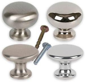 Modern Round Metal Drawer Knobs 30mm Handle Cupboard Cabinet Door Furniture UK