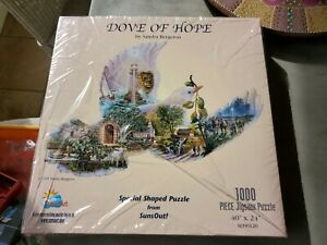 Dove of hope by Sandra Bergeron Vintage Sunsout Suns Out 1000 Piece Puzzle