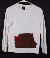 NIKE Bambini Giovani Pullover Felpa manica lunga shirt grande girocollo Dri-FIT NERO XL
