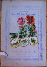 Victorian Diecut Scrap 1890s on Large 10x7 Chicoree Advertising - Three Flowers