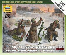 Zvezda Modèle Plastique Kit 1/72 Echelle Russe 82mm Mortar & Équipage 6208