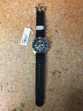 Seiko Prospex Automatic Diver Silver/Black Silicone Strap Mens Watch SRP777