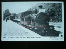 POSTCARD RP THE END OF THE VENTNOR WEST RAILWAY LINE 13/9/52