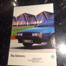 1986 VW  SCIROCCO BROCHURE