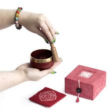 More details for tibetan singing bowl set 7 chakra healing energy yoga meditation stress relief