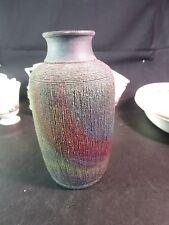"Raku 7"" Studio Pottery Vase Michael Perry Nunn-Perry Studios Birmingham AL"