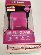 $50 Polaroid From Macy's Mini Wireless Portable Bluetooth Speaker Pink