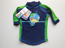 NEW Bright Bots baby boy rash top bathers 50+ UPF size 000 Fits 0-3 mths *Gift*