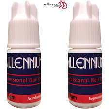 Millennium Nails Adhesive Glue 2x 3g Super Strong / False Nail Tips & Extensions