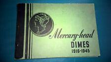 VINTAGE MEGHRIG COIN ALBUM FOLDER #G7 for MERCURY HEAD DIMES 1916-1945 - nice