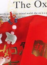 Buey Jade Chino Zodiaco Animal Colgante Red Envelope cumpleaños regalo de fiesta Año Nuevo