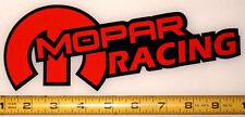 "Mopar Racing! Very Bold! Orange on Black HQ Vinyl Sticker Decal 9"" x 3.4""!"