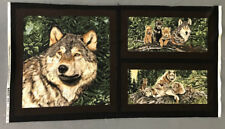 Wolf Song Fabric Panel Exclusively Quilters Wolf Family Woods Wild Animal