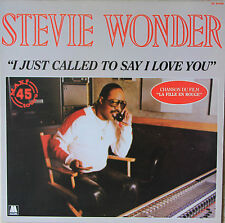 """Vinyle maxi Stevie Wonder  """"I just called to say I love you"""""""