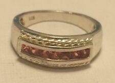 Elegant Sterling Silver with Orange Topaz Ring