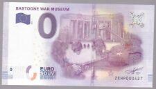 66 BASTOGNE WAR MUSEUM 0 EURO BILLET TOURISTIQUE 2016