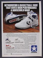 1991 VINTAGE CONVERSE CONS 100 BASKETBALL HI SHOES TOPS