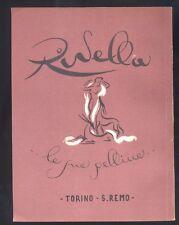 Pubblicità originale 1944 Rivella ,le pellicce Torino S.Remo R