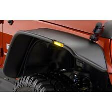 For 07-16 Jeep JK Wrangler Black Textured Flat Style Front + Rear Fender Flares