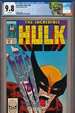 Incredible Hulk #340 CGC 9.8 WHITE pages - Iconic McFarlane Wolverine Cover