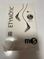Etymotic Research MC5 Dynamic Noise Isolation In-Ear Headphones Earphones BLACK