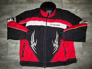 Polaris Pure Red Snowmobile Sled Insulated Racing Men's Jacket Coat Size XLarge