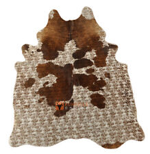 Design Cowhide Bullhide Beige Braun Colored 82 11/16x65in