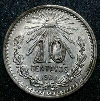 1907-Mo 10 Centavos Mexico Republic Gem Brilliant Uncirculated Silver Coin