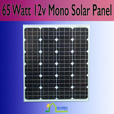 65 Watt 12v Monocrystalline Solar Panel 65W - Back In stock