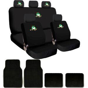 For BMW Frog Logo Car TRUCK SUV Seat Covers Floor Mats Set New Semi Custom