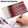 9 IN 1 Miniature Paint Brush Sable Hair Extra Fine Detail Nail Model Paint ll2