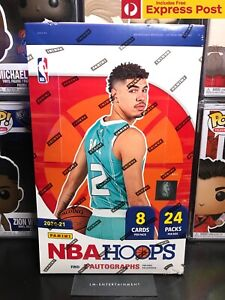2020-21 PANINI NBA HOOPS HOBBY BOX - SEALED - 24 PACKS / 8 CARDS 2 AUTOS LAMELO?