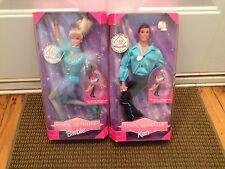 BARBIE Olympic Skater lot of 2 Ken & Barbie NRFB 1997 NIB Mattel #18501 18502