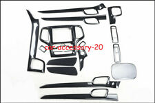 Carbon fiber Interior Kit Decor Lid Cover trim For Jeep Grand Cherokee 2014-2020