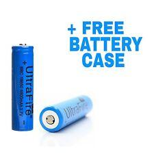 2x Original INR 18650 25R 6800mAh 3.7v 30A Batería Recargable + Estuche