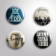 "4 FALL OUT A BOY  - Pinbacks Badges Buttons 1"" 25mm"