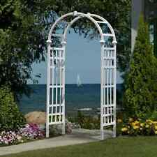 New England Arbor Garden Arch White Trellis Strong Vinyl Outdoor Wedding Decor