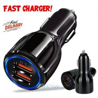 Car Charger w/ Dual USB 3.1A Fast Charging Charger For Samsung S9 S8 S7 Note8 9