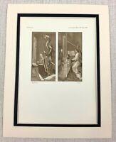 1927 Antico Stampa King James III Di Scozia Margaret Danimarca Hugo Van Der Goes