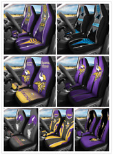 Car Seat Cover Personalized Nonslip Auto Seat Protector Minnesota Vikings 2pc