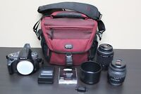 Sony Alpha DSLR-A330 w/55-200mm f4-5.6 DT AF & 18-55mm F3.5-5.6 SAM Lens