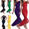 Womens Fishtail Bodycon Sleeveless Long Dress Bridesmaid Party Formal Ball Gown