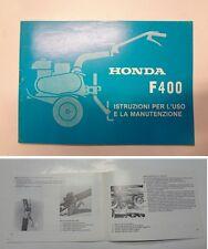 Manuale manual libretto uso manutenzione motozappa tiller HONDA F 400