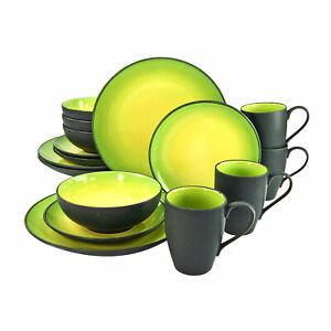 CreaTable 20220 HOT GREEN Geschirrset Kombiservice 16tlg Tafelservice Geschirr