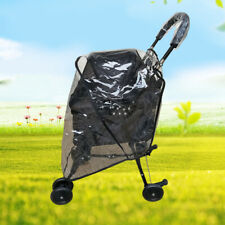 Folding Pet Stroller Carrier Cat Dog Pram Clear 3 Wheels Cage Mesh Cover Travel